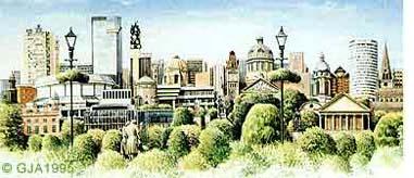 Birmingham Skyline Painting