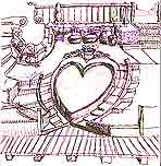 Valentine Steps using an  Organic Architecture style